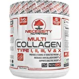 Multi Collagen Protein Powder | 64 Servings High Quality Blend Grass-Fed Beef Chicken Wild Fish Marine Eggshell Collagen Peptides Hydrolysate Type I II III V X Low Carb Paleo Keto