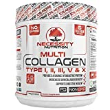 Multi Collagen Protein Powder | 64 Servings High Quality Blend Grass-Fed Beef Chicken Wild Fish Marine Eggshell Collagen Peptides Hydrolysate Type I II III V X Low Carb Paleo Keto Review