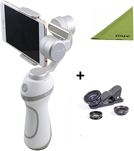 feiy utech vimble C Smartphone Gimbal Support Shooting panorámico Mode with Phone Lens For iPhone or Smartphone, GoPro Hero 5/4/3 or Other Same witdth Action Camera: Amazon.es: Electrónica