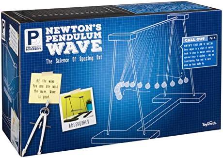 Project Blueprint Newtons Pendulum Wave Science Toys Novelty Desk D/écor Sensory Fidget Gift