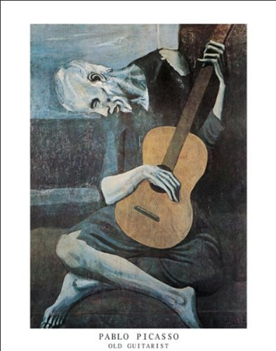 BEYONDTHEWALL Archive Pablo Picasso The Old Guitarist Fine Art Poster Print (11X14 UNFRAMED Print)