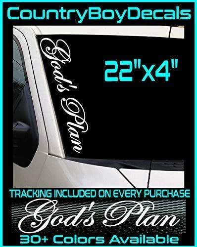 GODS PLAN Vinyl Decal Sticker JDM Car Turbo Boost God Diesel Truck Euro Drift