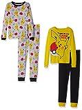 Pokemon Boys Pikachu 4-Piece Cotton Pajama Set