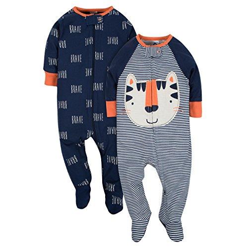 Gerber Baby Boys' 2-Pack Sleep 'N Play, Happy Tiger, 0-3 Months (Tiger Sleeper)