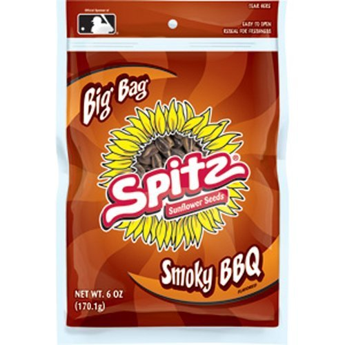 SPITZ Smoky Sunflower Seed, BBQ, 6-Ounce (Pack of 12)