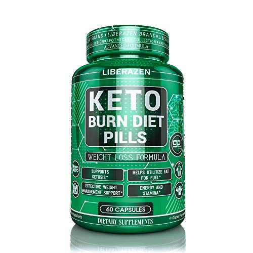 Keto Burn Diet Pills – Advanced Extreme Max Weight Loss Keto Supplements for Ketosis – Perfect and Pure Real Instant Exogenous Ketones For Fuel and Natural Burn – 60 Capsules