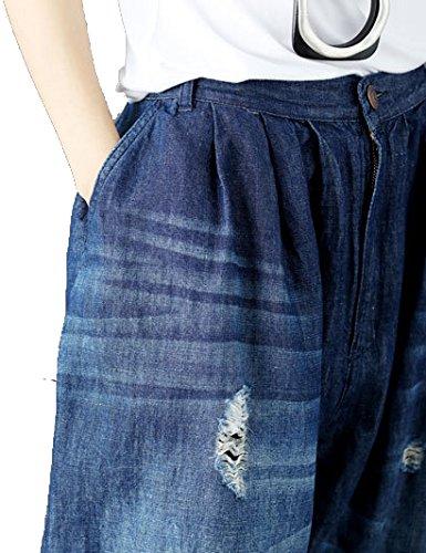 scarpe E Larga Gamba Jeans Unica Con Elastica Incluse Cintura Blu Harlan Donna Non Taglia qwXXFv