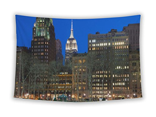 Gear New Wall Tapestry For Bedroom Hanging Art Decor College Dorm Bohemian, Night Comes To The Empire State, - Park 42nd Bryant