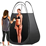Yaheetech Portable Pop-up Sunless Tan Airbrush & Turbine Spray Tanning Tent/Booth Black