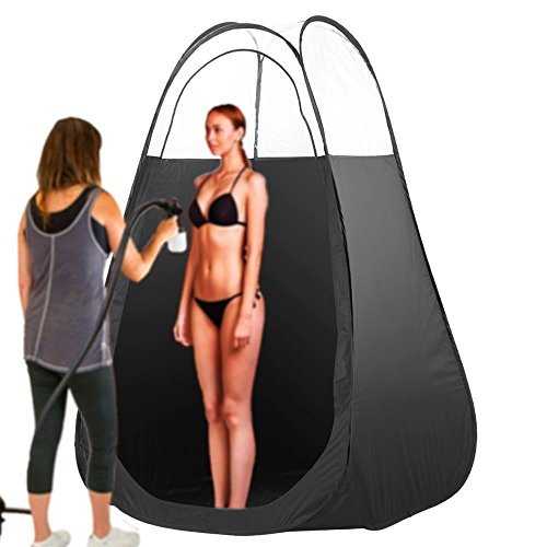 Price comparison product image Yaheetech Portable Pop-up Sunless Tan Airbrush & Turbine Spray Tanning Tent/Booth Black