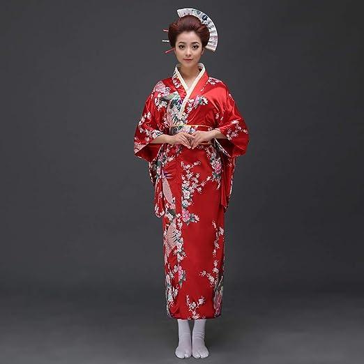 LiXiZhong Kimono Japonés Tradicional, Traje Japonés De Kimono De ...
