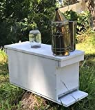 Nuc Box By East Coast Bees: Fully Assembled Beekeeping Hive with 5 Frames, Entrance Reducer, and Rear Ventilation For Honey Bees