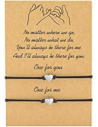 Pinky Promise Distance Matching Bracelets(Ver.2) for Best Friends Couple Family Women Mens Teen Girls