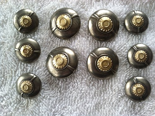 Gold & Silver Designer Buttons Sets for Coat or Blazer 10 Pc. (1)