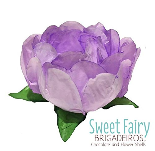 Sweet Fairy Brigadeiros - Bella Flower Shells - Forminha de Brigadeiro - Brazilian Truffle Wrapper - Paper Flower - Wedding Flower Table Decorations - Forminha de Brigadeiro (Lavander)