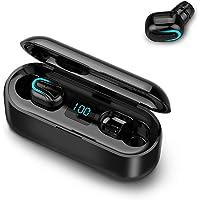 Andoer Fone de ouvido estéreo sem fio portátil TWS 5.0 à prova d'água Mini fones de ouvido BT com microfone duplo para…