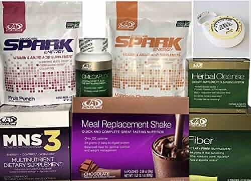 Advocare 24 Day Challenge, Chocolate Meal Replacement + Bonus.MNS3, Fruit & Mandrain Orange Spark