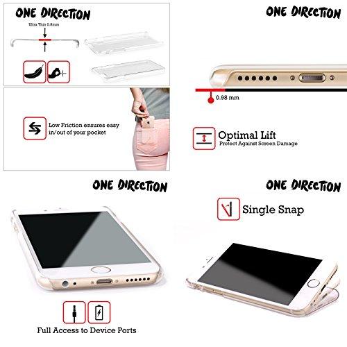 Officiel One Direction 1D Anaglyphe De Groupe Motifs Griffonnage Visage Étui Coque D'Arrière Rigide Pour Apple iPhone 5c