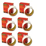 Scotch Book Tape, 1-1/2''x15 yds, 6 Pack (845112)