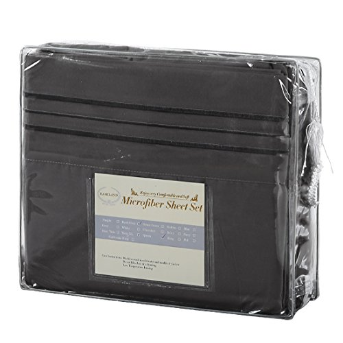 EASELAND 6 Pieces 1800 Thread Count sheet Pillowcase Sets