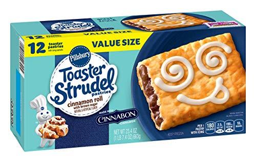 Toaster Strudel, Cinnamon Roll, 23.4 oz (Frozen) (Strudel Pillsbury Toaster)