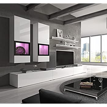 baros wall unit modern center design led lights high capacity