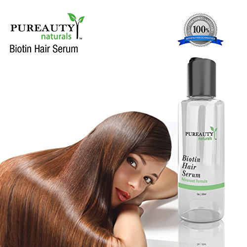 Biotin Hair Growth Serum by Pureauty Naturals – Advanced Topical Formula to Help Grow Healthy, Strong Hair – Suitable For Men & Women Of All Hair Types – Hair Loss Support by Pureauty Naturals (Image #3)