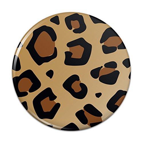 (Leopard Print Animal Spots Compact Pocket Purse Hand Cosmetic Makeup Mirror - 2.25