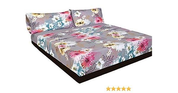 Montse Interiors Juego de sábanas Flores Algodón 100% (Acuarela, para Cama de 135x190/200): Amazon.es: Hogar