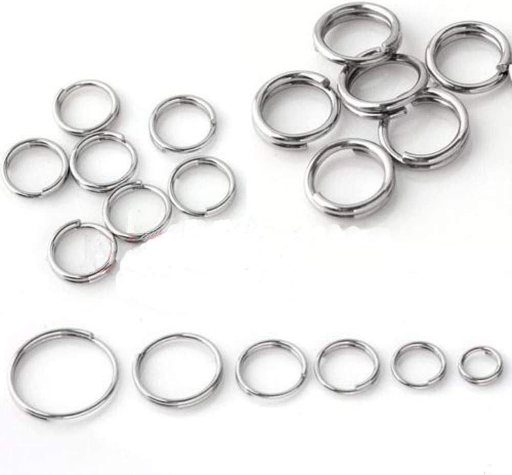 Lots Silver Metal Double Loop Split Open Jump Rings Connector Findings 4-14MM