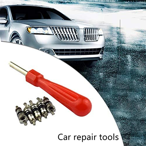 Automobile Car Tire Valve Stem Core Remover Installer Tools with 5 Valve Cores Tire Repair Tool Kit anyilon