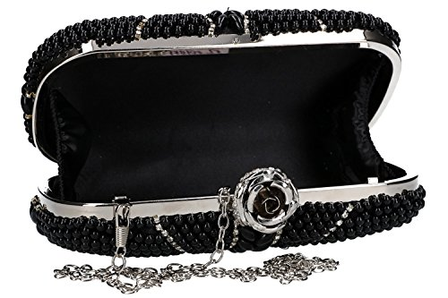 strass ceremonies FEMME VN1918 with woman black Purse for DE PASSION pochette zRnAOT