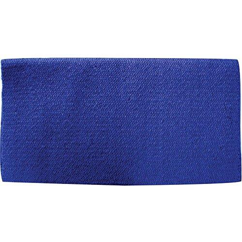 Mayatex San Juan Solid Saddle Blanket, Royal Blue, 36 x 34-Inch