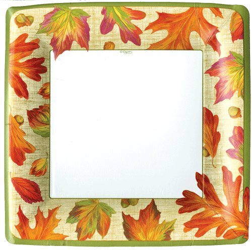 Fall Decorations Paper Plates Fall Decor Fall Wedding Dinner Size Linen Leaves 16 count -
