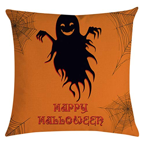 Jocome Throw Pillow Case,Halloween Decorative Pumpkin Throw Pillow Cover Pillowcases Sofa Cushion Cover Boys Horror Nights Little Red Riding Hood Cute Vampire Best Joker Angel -