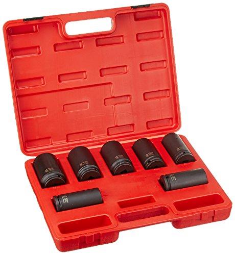 Sunex International 2839 7 pc. Deep Spindle Axle Nut Socket Set