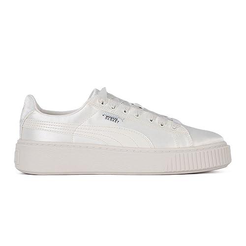 Puma Basket Platform Tween Jr Sneaker Donna 365133 03 White