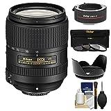 Nikon 18-300mm f/3.5-6.3G VR DX ED AF-S Nikkor-Zoom Lens & 2x Teleconverter + 3 Filters + Hood Kit for D3200, D3300, D5300, D5500, D7100, D7200 Camera