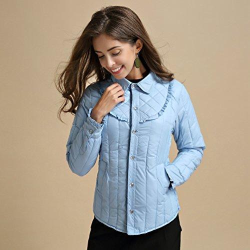 Down Long Ultralight Bodywarmers Fit Slim Lake Winter Jacket Coat Lightweight Warm Casual NiSeng Sleeve Blue Women xzqwHYY7