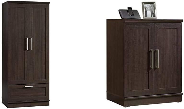 Sauder Homeplus Wardrobe, Dakota Oak Finish & Homeplus Base Cabinet, Dakota Oak Finish