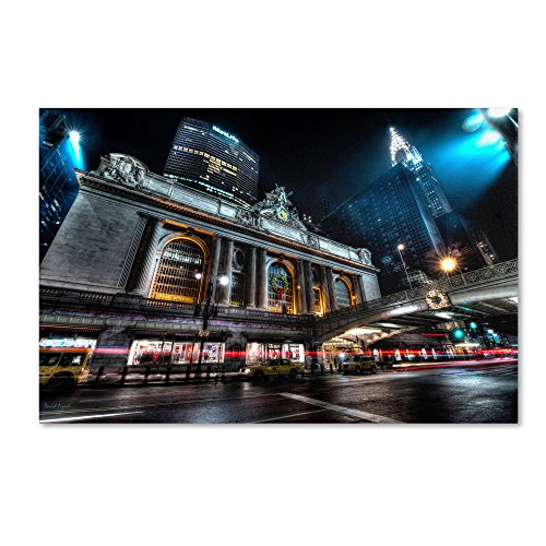 Grand Central Terminal 42nd. Street - Manhattan by David Ayash Wall Decor, 30 by 47-Inch Canvas Wall Art ()