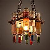 Metal Wine Rack Iron Pendant Lights Multipurpose Adjustable Wine Bottle Holder for Cafe loft Restaurant Kitchen (Optional Style),Square