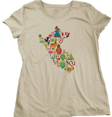 Peru Icon Map Ladies Cut T-shirt Peru Map Shirt