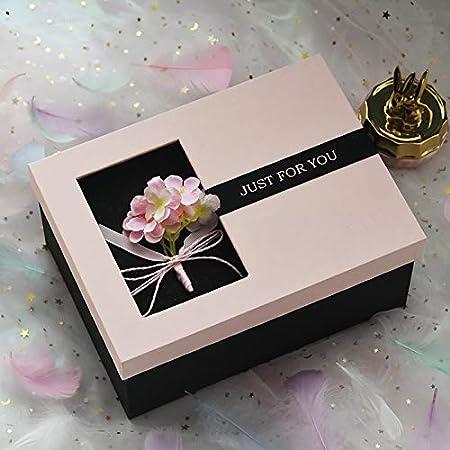 KHKJHT Caja de Regalo de San Valentín Caja de Regalo de Novia Rosa Caja de Regalo