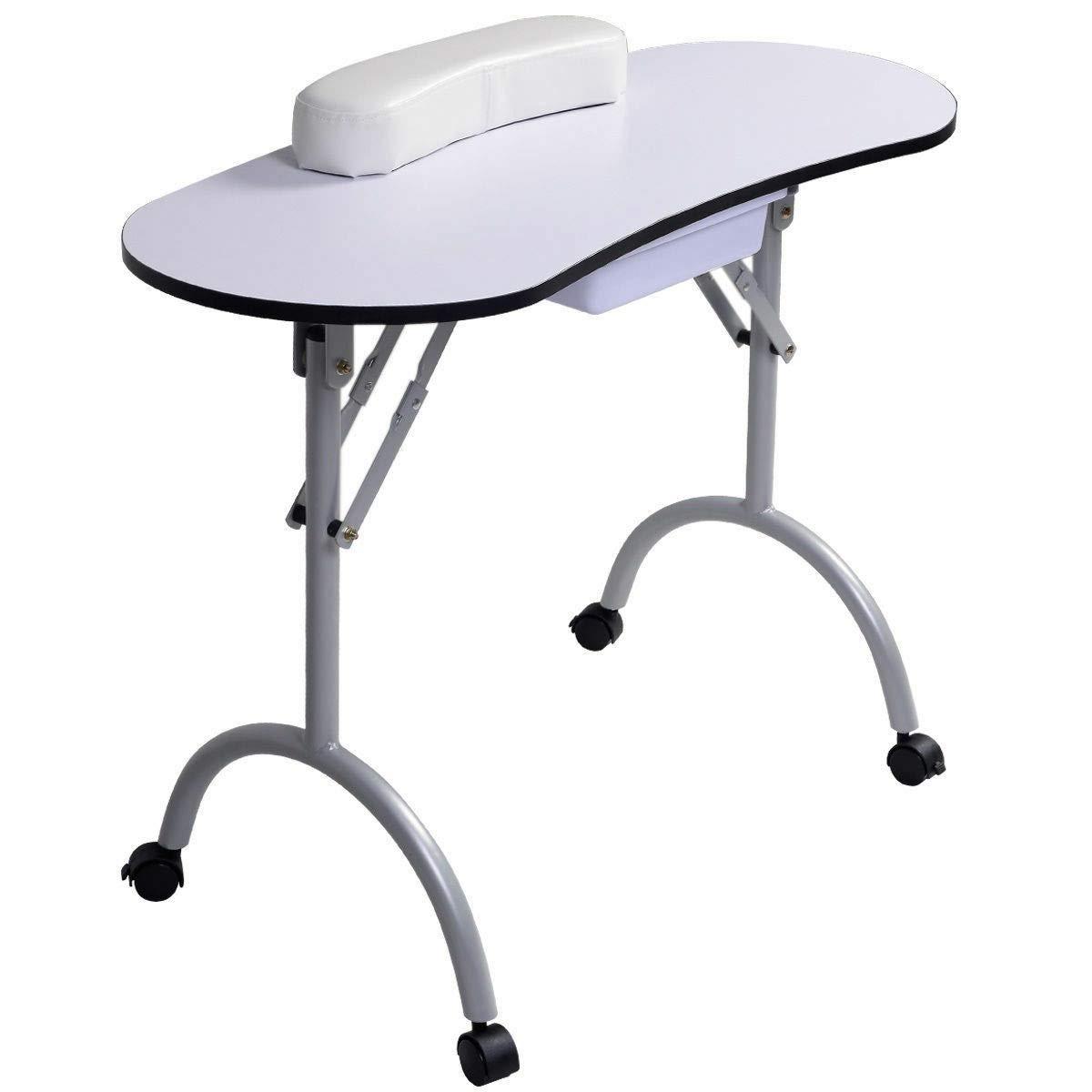 Ordinaire Amazon.com : Lucidz Makeup Station Desk Portable White Table Beauty Salon  Manicure Nail Care Spa Bag : Beauty