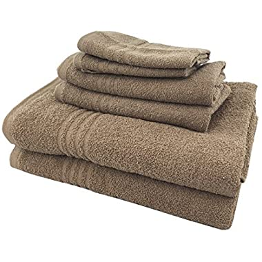 Metro 100% Cotton 6-piece Basic Towel Set (Mocha)