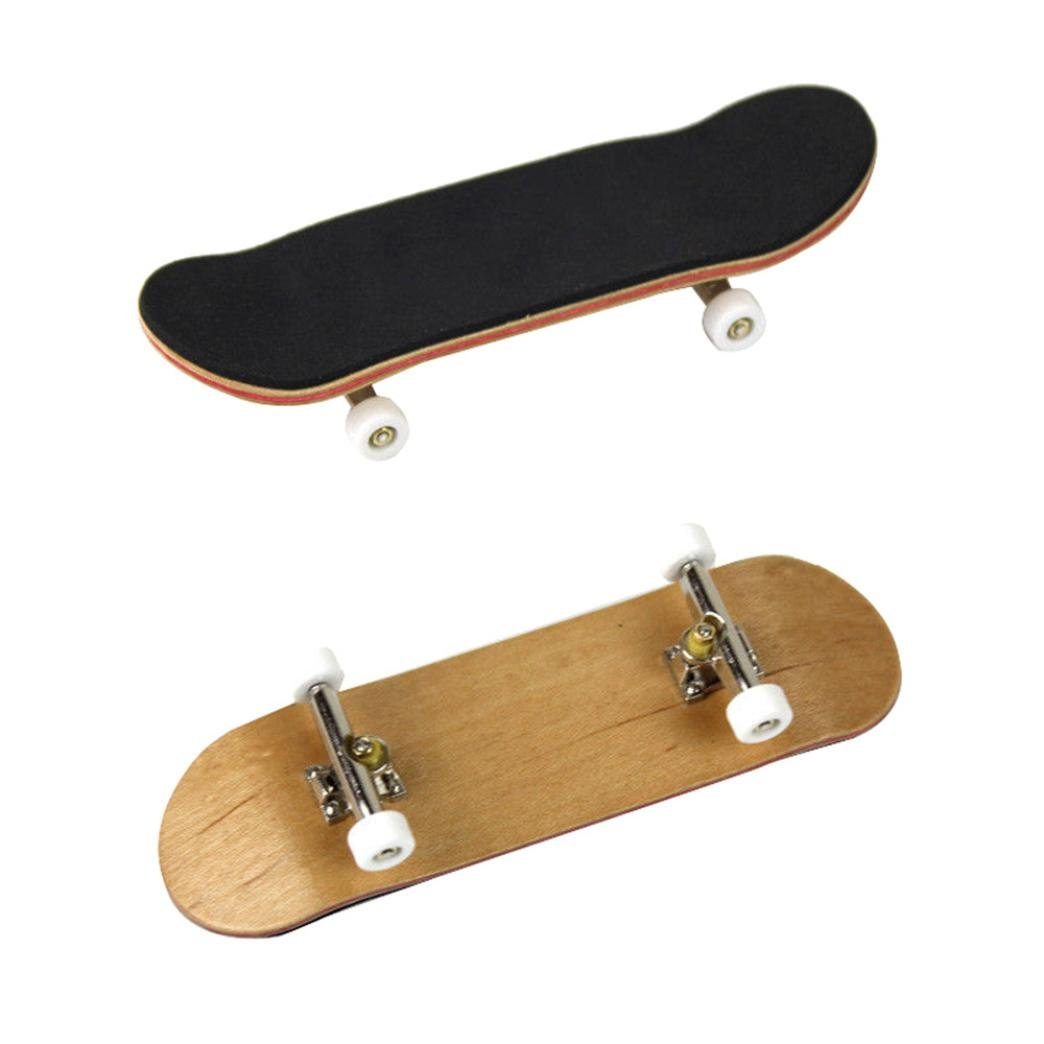 AmaMary Patineta de Dedo Amarillo Mini Diapas/ón de Madera de Arce Fingerboard Skate Adultos ni/ños Juguete Gran Regalo