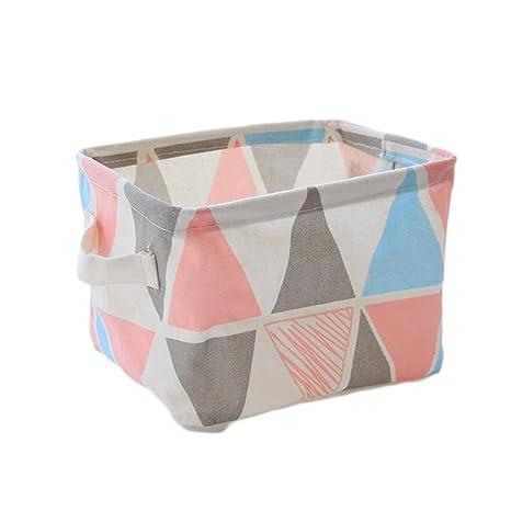 Caja de almacenamiento redondeada de lona Fablcrew para escritorio, ideal para guardar lápices, joyería