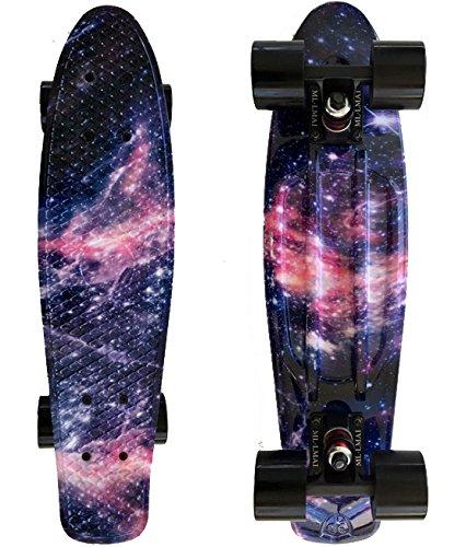 - LMAI 22''Cruiser Skateboard Graphic Galaxy Dream Starry Board Complete Skateboard