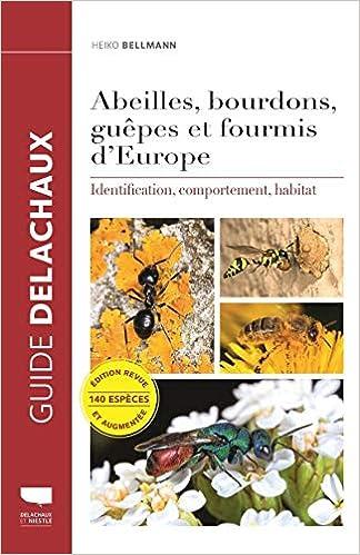 Guide Delachaux des abeilles, bourdons, guêpes et fourmis d'Europe 514FqcjPadL._SX322_BO1,204,203,200_